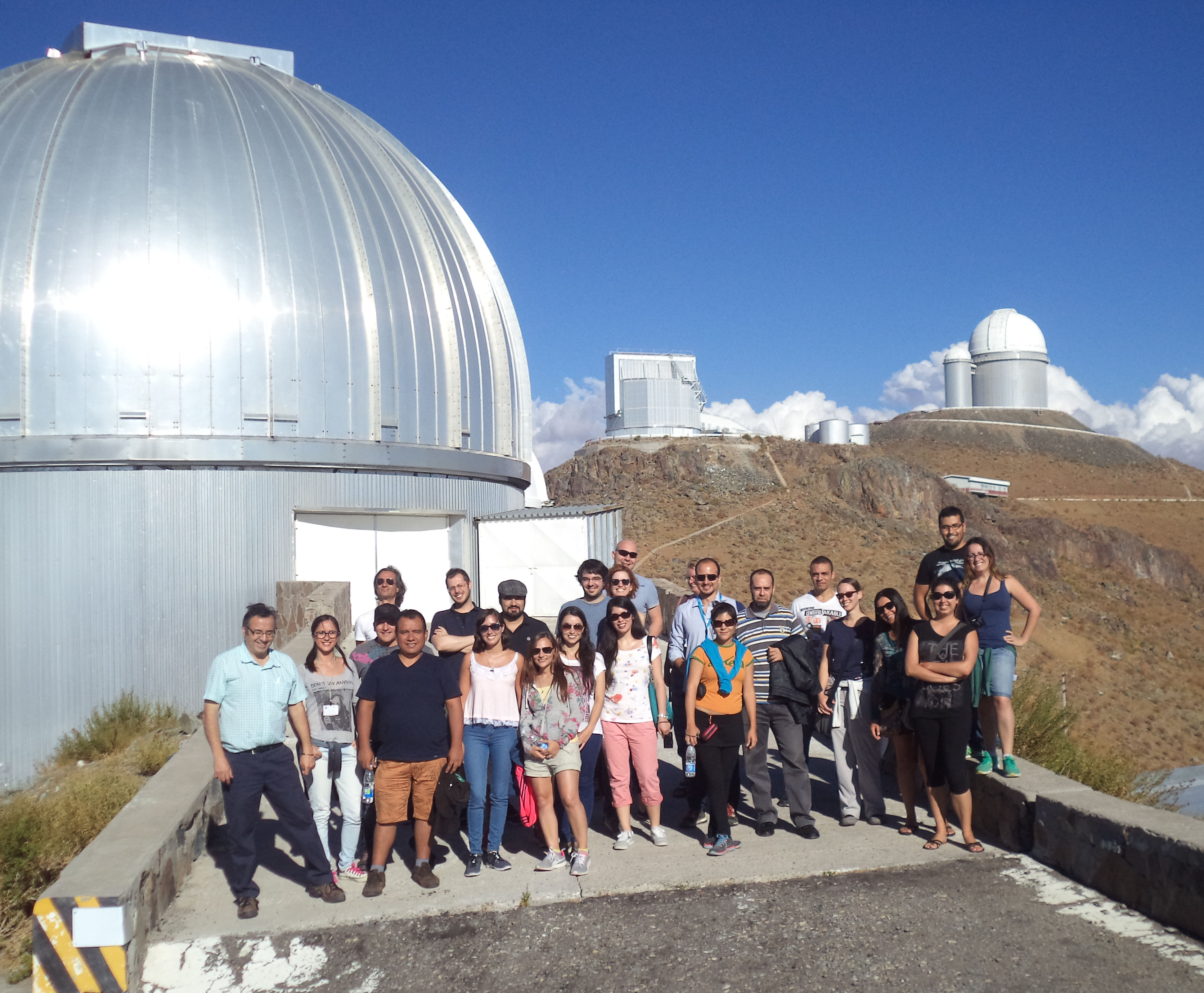 Astronomers at LaSilla